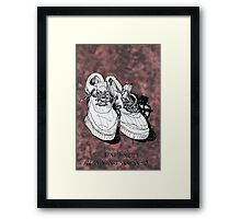 my old running shoes...  Framed Print