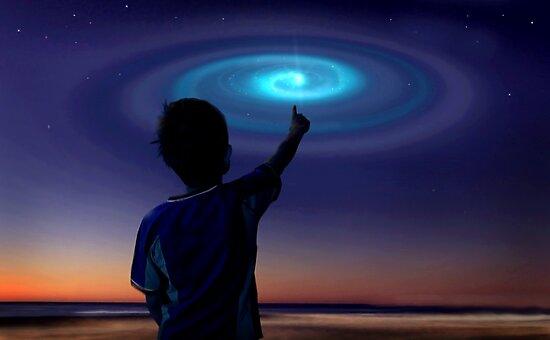 Spiral Light, UFO by Cliff Vestergaard