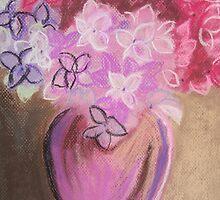 Fresh Hydrangeas...Drawing Day 2010 by Leslie Gustafson