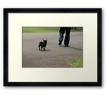 I'm Too Old For This Game - Daddy, wait for me!!! Framed Print
