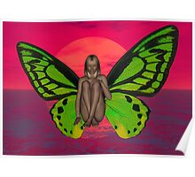 SUNSET BUTTERFLY Poster
