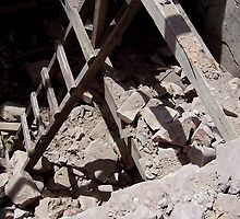 Ladder in the Rubble by mthom