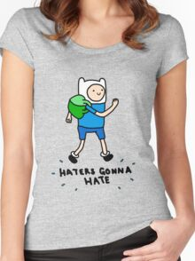Haters Gonna Hate Finn Women's Fitted Scoop T-Shirt