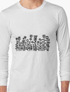 Cyber Garden - Black Long Sleeve T-Shirt
