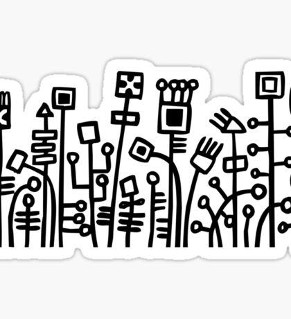 Cyber Garden - Black Sticker