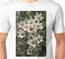 A Bouquet of Miniature Tulips Celebrating the Spring Season - Vertical Unisex T-Shirt