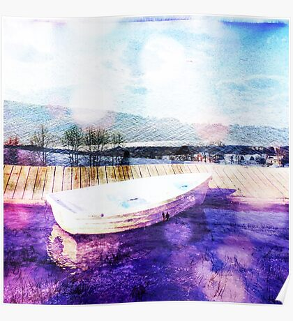 painterly boat Poster