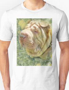 Dog with Wrinkles Unisex T-Shirt