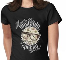 Mentally unstable dog lover & FBI's Special Agent Womens Fitted T-Shirt