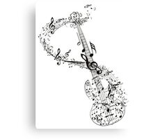 Guitar and Music Notes Canvas Print