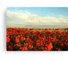 RED IMPRESSIONISM Canvas Print