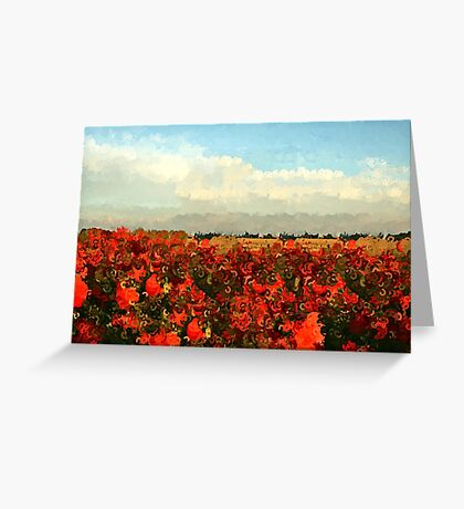 RED IMPRESSIONISM Greeting Card
