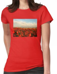 RED IMPRESSIONISM Womens Fitted T-Shirt