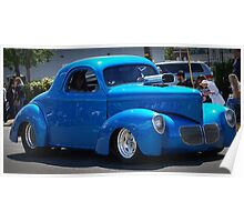 Blue Willys Poster