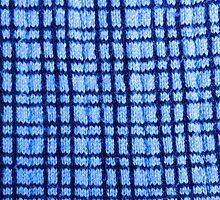 Blue Plaid Knitting by DeneWest