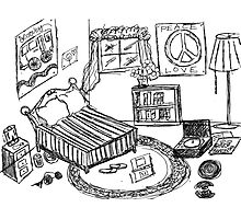 """A Teenage Room"" Drawing Day 2010 Photographic Print"