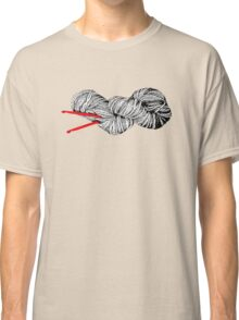 Gray skein and red hooks Classic T-Shirt