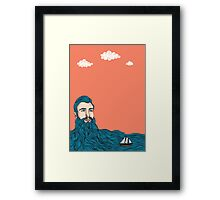 Él y el mar Framed Print