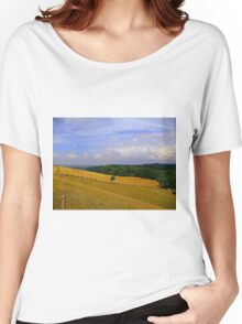 Cross Fencing On Rolling Hills Women's Relaxed Fit T-Shirt