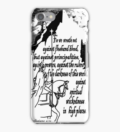 EPHESIANS 6:12 - WICKEDNESS IN HIGH PLACES iPhone Case/Skin