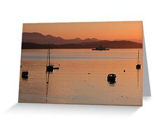 Gulf Island Evening in June Greeting Card