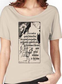 EPHESIANS 6:12 - WICKEDNESS IN HIGH PLACES Women's Relaxed Fit T-Shirt