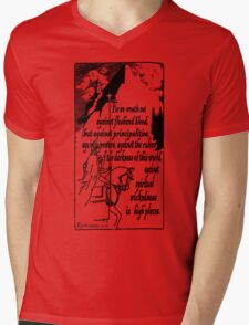 EPHESIANS 6:12 - WICKEDNESS IN HIGH PLACES Mens V-Neck T-Shirt