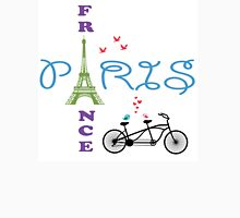 Paris Eiffel Tower Womens Fitted T-Shirt