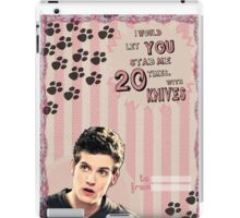 My Teenwolfed Valentine[I'd Let You Stab Me] 2 iPad Case/Skin