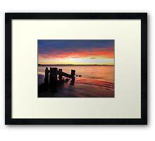 Beach Rainbow Framed Print