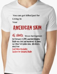 American Skin Mens V-Neck T-Shirt