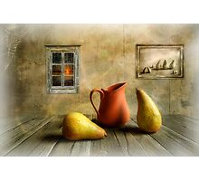 Pitcher and Pears Photographic Print