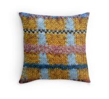 Rough Knitting Pattern Throw Pillow