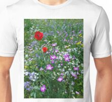 Wild flower Meadow Unisex T-Shirt