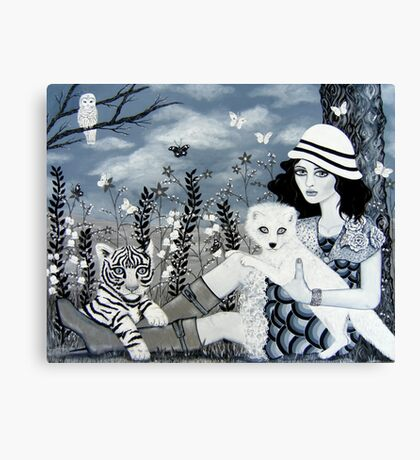 A Day Without Color Canvas Print