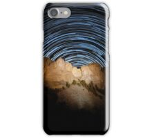 Star trails over Mount Rushmore National Memorial iPhone Case/Skin
