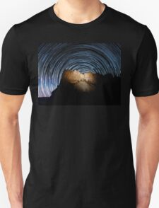 Star trails over Mount Rushmore National Memorial T-Shirt