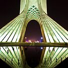 Azadi Tower (White Reflection) -Tehran - Iran by Bryan Freeman