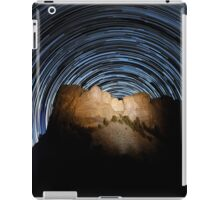 Star trails over Mount Rushmore National Memorial iPad Case/Skin