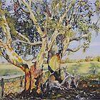 Resting at 'Nunagin' farm in Dumbleyung, Western Australia by scallyart