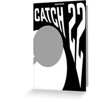 Minimalist Poster for the Novel Catch 22  Greeting Card