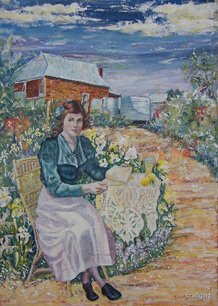 Linda at Glen Avon, Dumbleyung  by scallyart