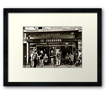 Le Faubourg Framed Print