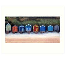 Beach Huts On Wells Beach Art Print