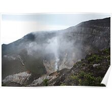 Smoking Crater of Gunung Gede Poster