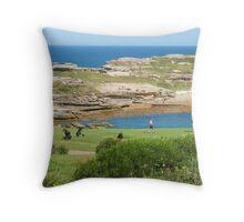 Golf at the Bay Throw Pillow