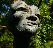 Sculpted face, Il Giardino di Daniel Spoerri, Italy, Seggiano, Tuscany by Andrew Jones