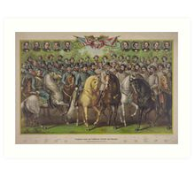 Prominent Union and Confederate Generals & Statesmen Art Print