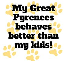 My Great Pyrenees Behaves Better by GiftIdea