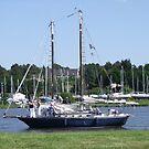 Classic sailing boat at Foleux by Alan Gillam
